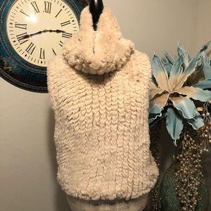Patrizia Luca pullover faux fur vest